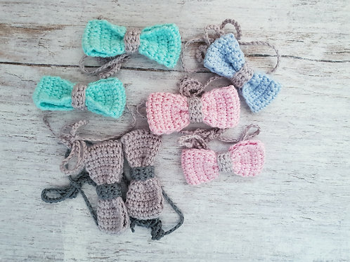 Woolanka for baby|Kokardka na kucyk