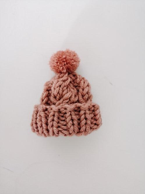 Woolanka for baby|Czapeczka dla lalki splot warkocz