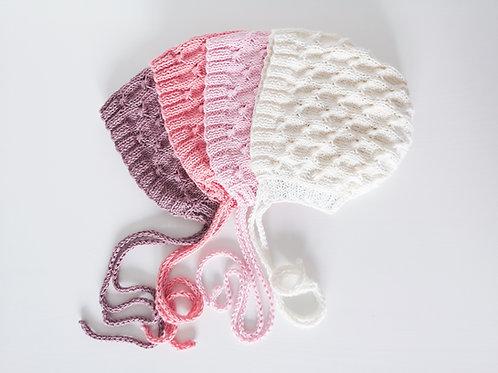 Woolanka for baby|Czapeczka Rose New Born