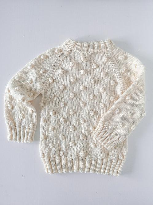 Sweterek Bubbles rozm. 104/110 kolor ecru