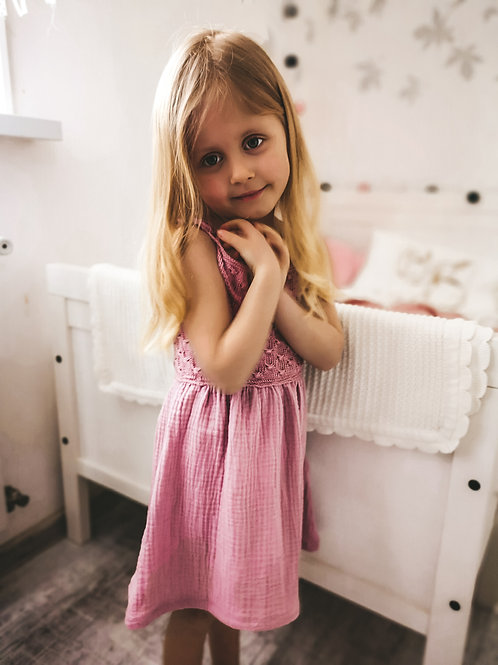 Woolanka for baby|Sukienka Lila