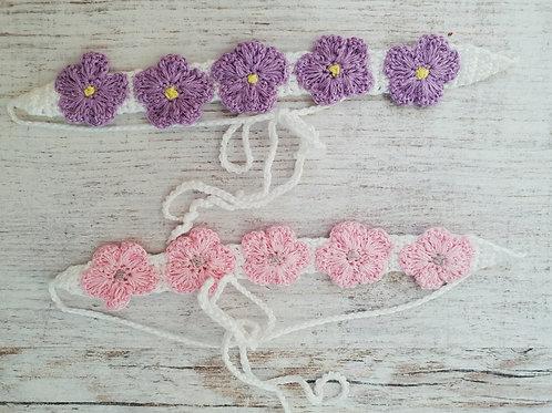 Woolanka for baby|Opaska na włosy Little flowers