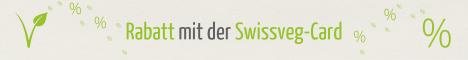 Rabatt mit der Swissveg-Card