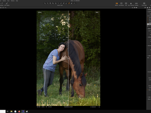 Voor en NA in CApture One Pro