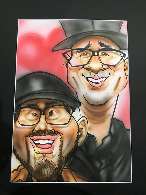 Autographed ~Curtis & FiZzO~ Caricature Print