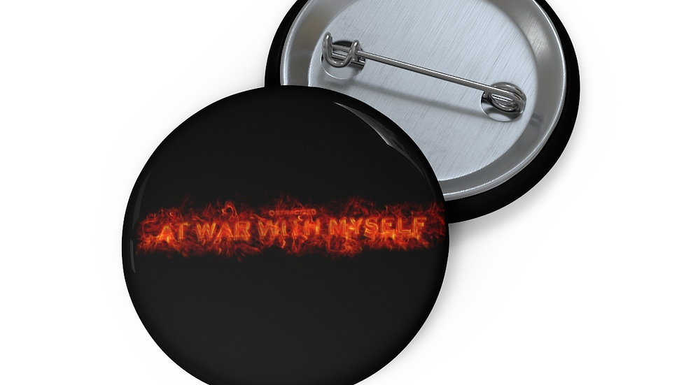 At War With Myself X Pin Buttons