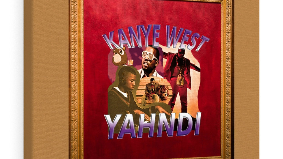 KanYe West Yahndi Canvas Gallery Wrap