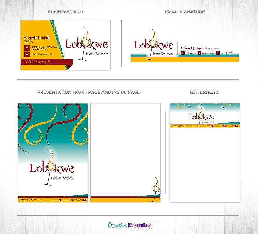 Lobukwe Events Company Corporate Identity Design