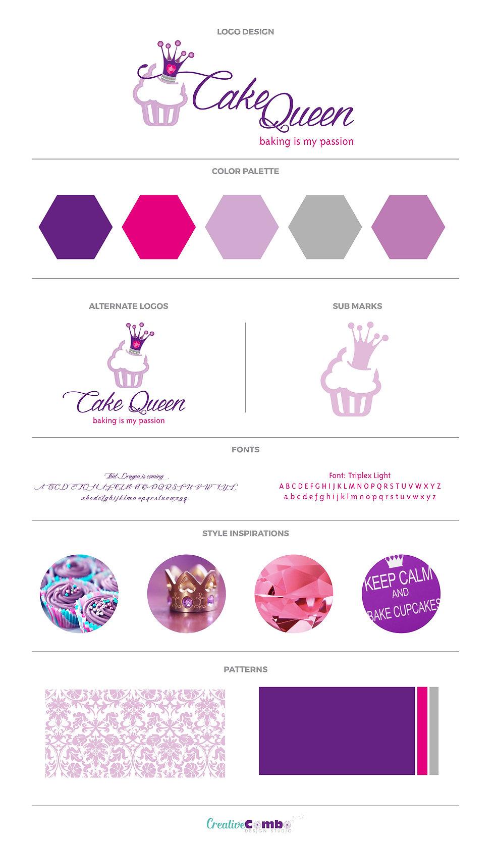 Cake Queen Company Brand Design