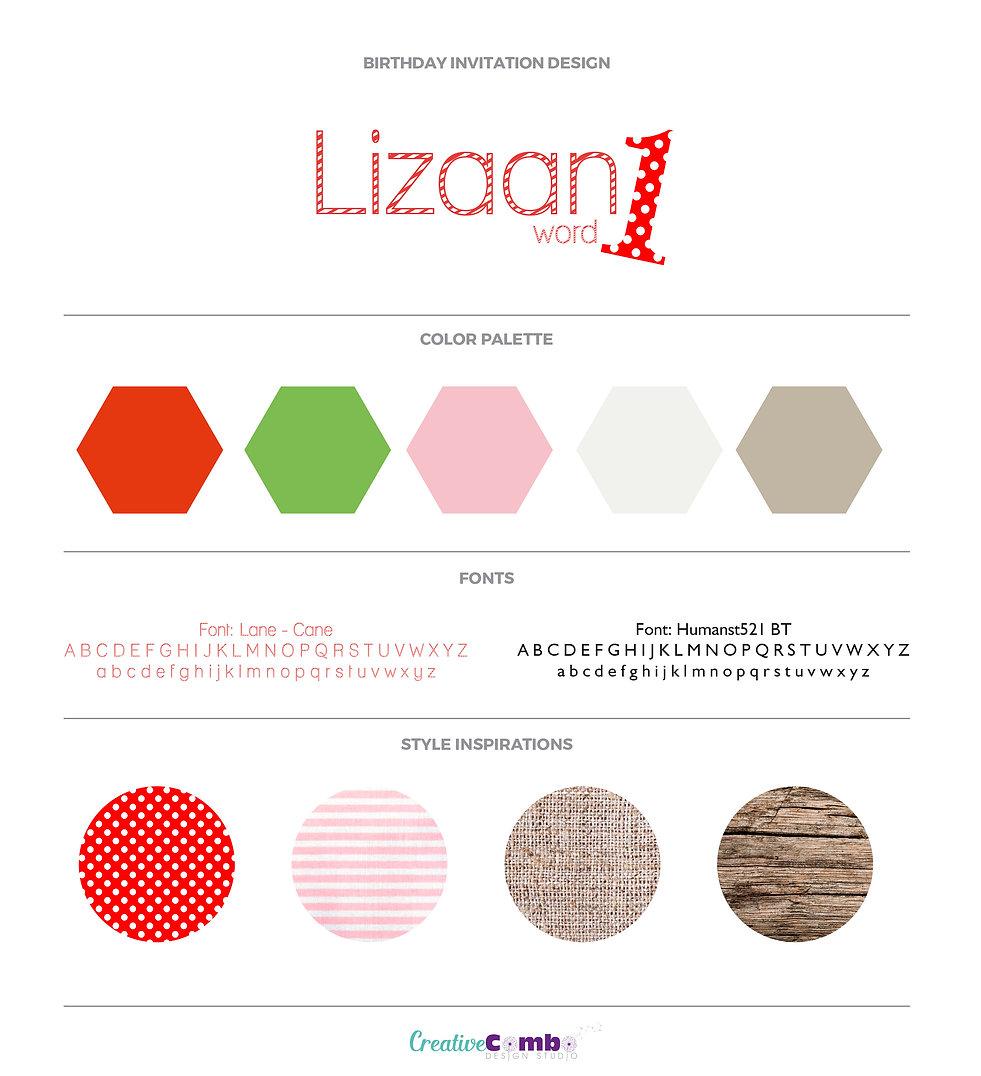 Lizaan Maritz Invite Design