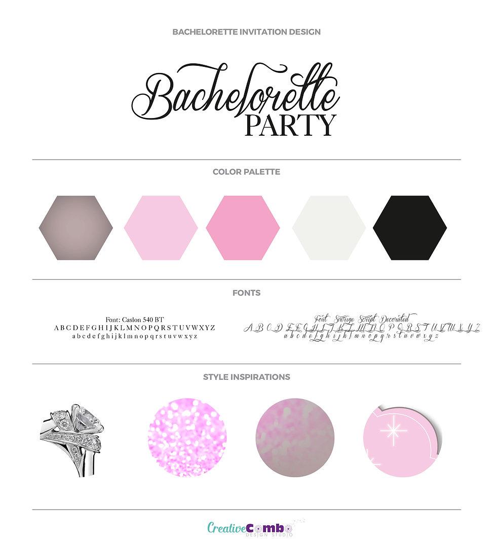 Lihandra Schreuder Bachelorette Invite Design
