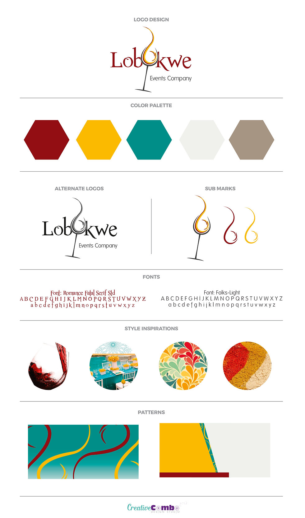 Lobukwe Events Company Brand Design