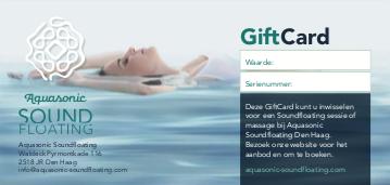Aquasonic Soundfloating giftcard
