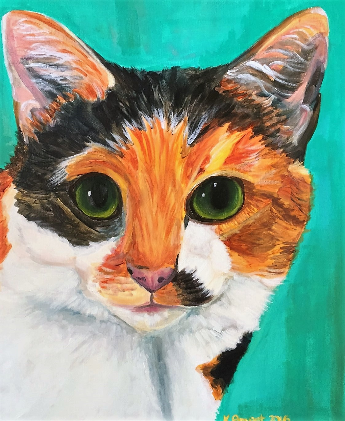 Mystery calico cat