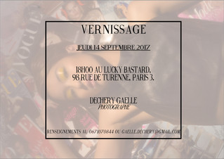 Vernissage le 14 Septembre 2017 - Exposition photo de Gaëlle Dechery !
