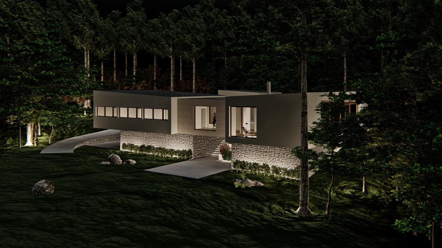 Hus i skogen