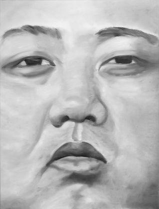 kim jong un 180 x 140 cm oil on canvas