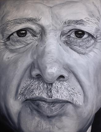 recep tayyip erdogan 180 x 140 cm oil on canvas