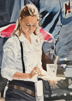 waitress 100 x 140 cm oil on canvas