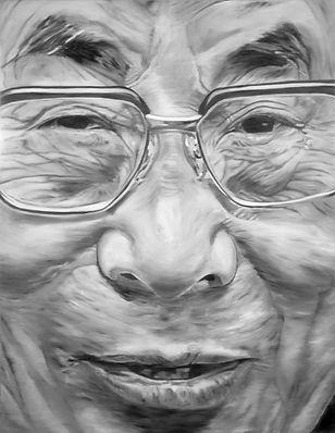 dalai lama 180 x 140 cm oil on canvas