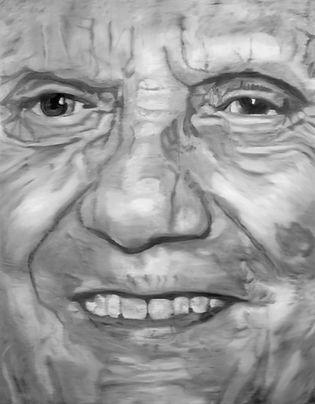 papst_benedikt_XVI 180 x 140 cm oil on canvas