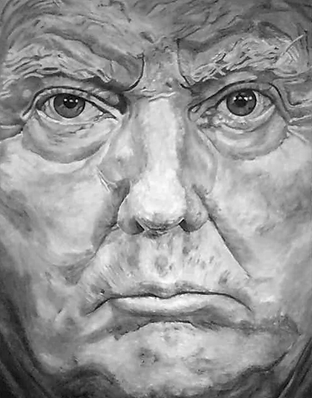 donald trump 180 x 140 cm oil on canvas