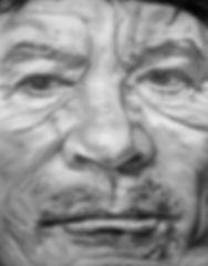 muammar al gaddafi 180 x 140 cm öl auf leinwand