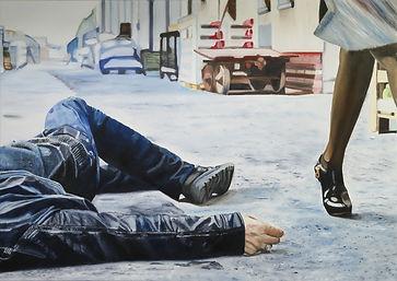 crime of passion 100 x 140 cm öl auf leinwand