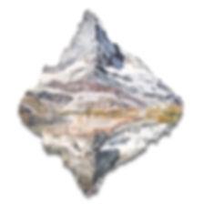 matterhorn _200_x_188_cm_wood 200 x 188_cm_oel_auf_ausgsaegter_holzplatte