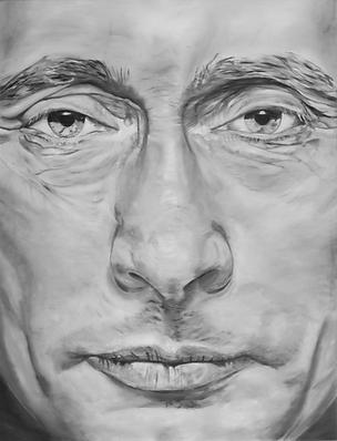 Wladimir Wladimirowitsch Putin 180 x 140 cm oil on canvas