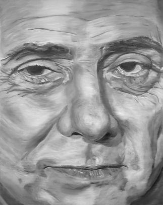 silvio berlusconi 180 x 140 cm oil on canvas