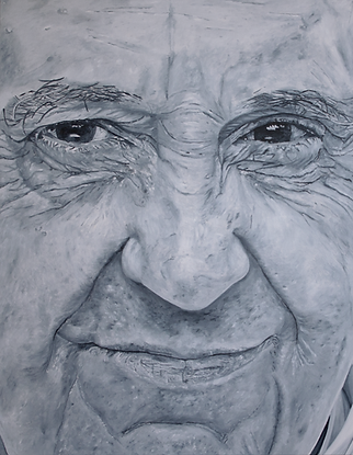 pope francis 180 x 140 cm oil on canvas
