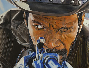 django....the d is silent 100 x 140 cm öl auf leinwand