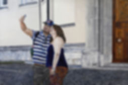 tourists 120 x 180 cm oil on canvas