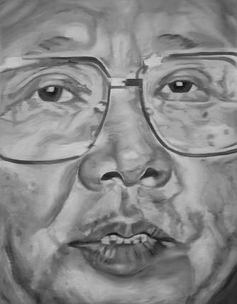 kim jong il 180 x 140 cm oil on canvas