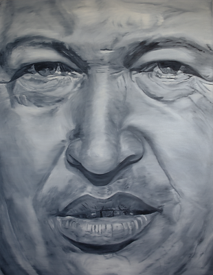 Hugo_Chávez_180_x_140_cm_Öl_auf_Lein