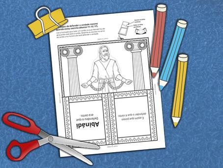 Atividade de colorir do manual - Mosias 11-17