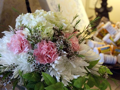 Hydrangea, mum and carnation fresh