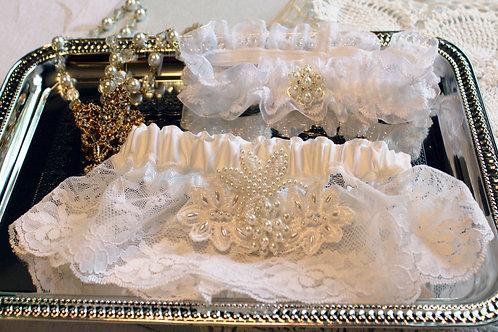 Blanc Pearl Garter set