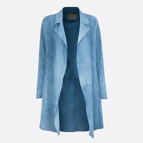 Suede Unstructured Jacket Pastel Blue