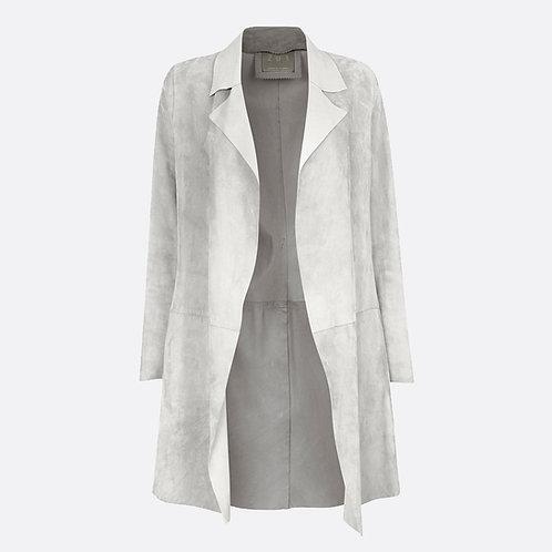 Suede Unstructured Jacket - Light Grey