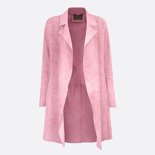 Suede Unstructured Jacket Pastel Pink