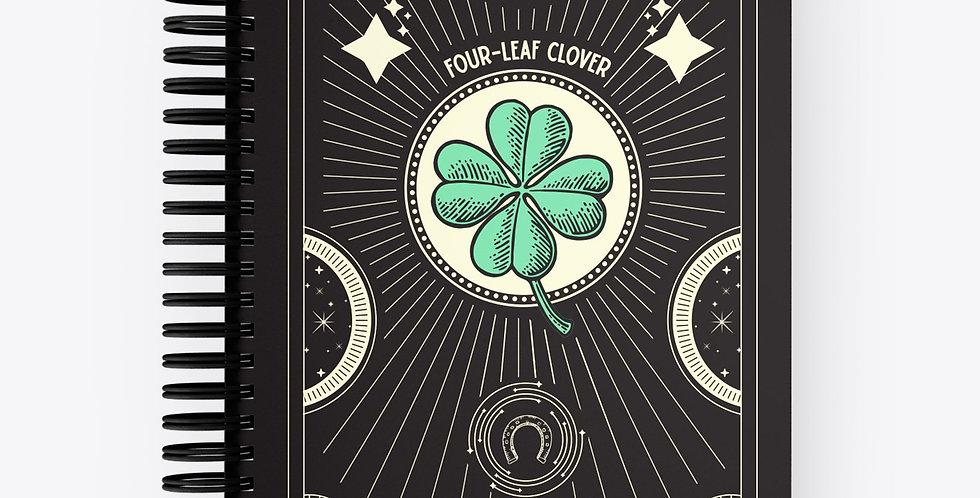 Lucky Notebook Four Leaf Clover