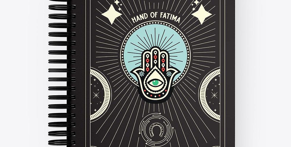 Lucky Notebook Hand of Fatima