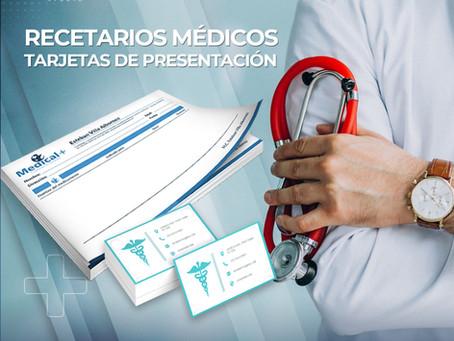 Recetarios y tarjetas médicas
