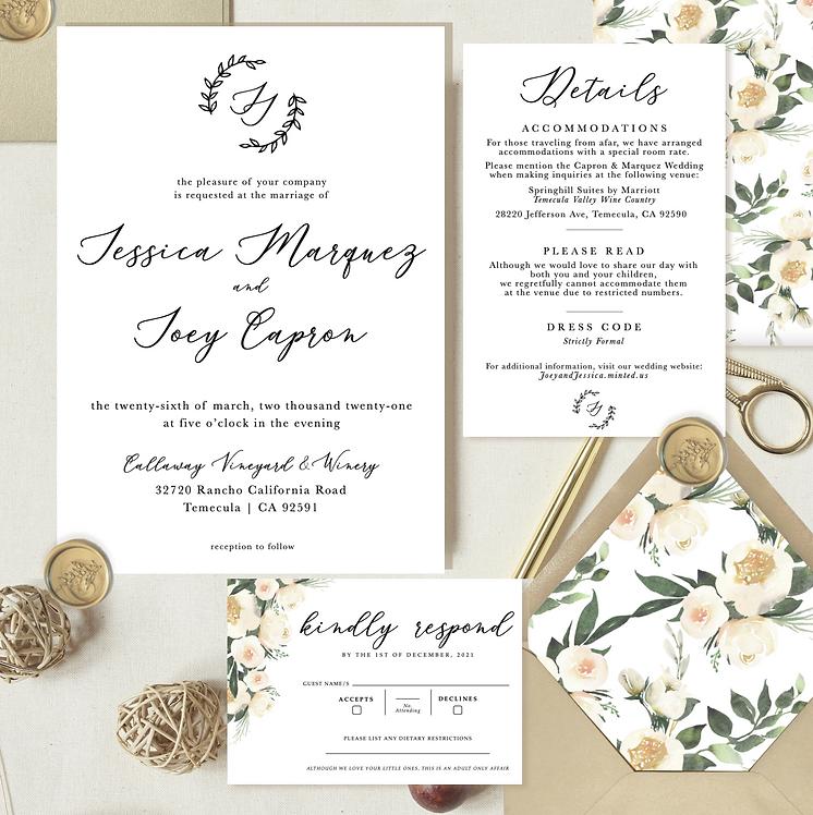 wedding invitations, white wedding invitation, modern wedding invite, details card, rsvp card, wedding invte