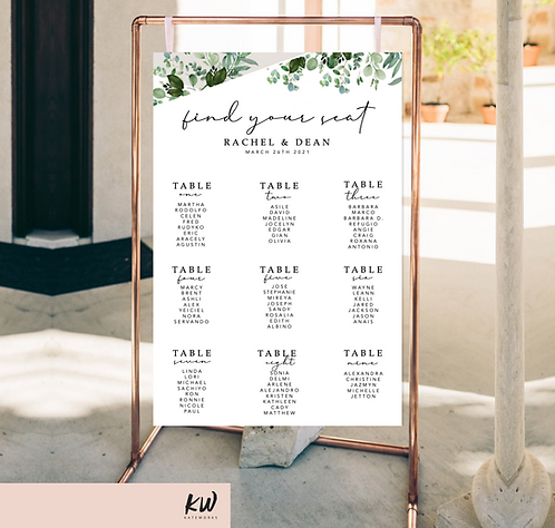 seating chart, wedding seating chart, seating chart sign, custom seating chart sign