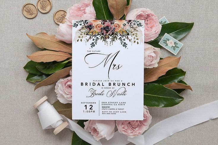 bridal shower invitation, bridal shower decor, bridal shower invitaiton, boho bridal shower invitation