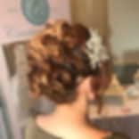 Gorgeous curly up-do for one of the Models at _heritageparkhotel Bridal Wear catwalk show at today's