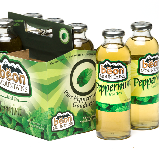 Beon Mountains Iced Tea Packaging